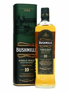 Bushmills 10 Year Old $38.68 The benchmark Irish single malt, this has a far greater depth of flavour than standard Irish blends. Winner of the 'Best Irish Single Malt Whiskey in the World' at last year's World Whiskies Awards.