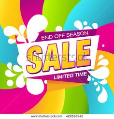 Sale Banner. Colorful Discount Poster. - stock vector