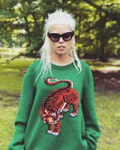 Die Antwoord, Yolandi Visser, Sixteen Jones, Knit Fashion, Womens Fashion, Runway Magazine, Mohawk Hairstyles, Tough Girl, Mullets