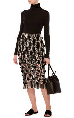 Lela Macrame Midi Skirt by TABULA RASA Now Available on Moda Operandi