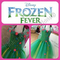 Disney Frozen FEVER Elsa inspired tutu dress door PnkFrogCreations