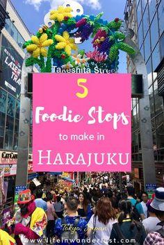 5 Food Stops You Must Make In Harajuku, Tokyo Japan! #japanesefood #harajuku #tokyojapan