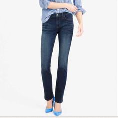 J. Crew Matchstick Jeans - Racerbrook J. Crew Matchstick Jeans - Racerbrook Wash 27 S - petite   Great shape!  Thank you for looking and please check out the rest of my closet. J. Crew Jeans Straight Leg
