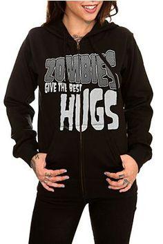 Zombie Hugs Girls Hoodie - 986362