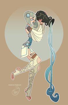 Дизайн персонажей - Водолей по MeoMai