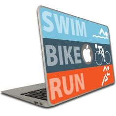Amazon.com: Macbook Air (11 inch)- Vinyl, Removable Skin - Triathlon - Swim, Bike, Run: Cell Phones & Accessories Gifts For Triathletes, Macbook Air 11 Inch, Vinyl Cover, Triathlon, Vinyl Decals, Cell Phone Accessories, Phones, Swag, How To Remove