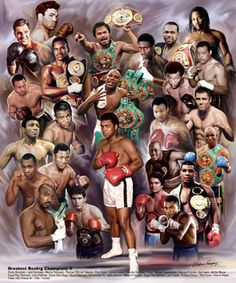 Shop for ''Boxing Greats: Champions by Wishum Gregory African American Art Print x 20 in. Get free delivery On EVERYTHING* Overstock - Your Online Art Gallery Store! Kick Boxing, Ggg Boxing, Muay Thai, Boxe Fight, Boxe Fitness, Karate, Poster Sport, Boxing Images, Boxing Posters