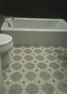 love this cement tile bathroom floor eilat pattern in colors rye ginger linen