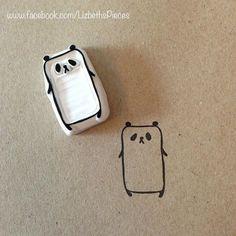 """My Panda Eraser Stamp! Visit my shop > Facebook: www.facebook.com/LizbethsPieces Instagram: """"bettylilbetty"""" & """"lizbethspieces"""""""