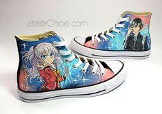 Anime Gifts Painted Converse Custom Anime Shoes Manga Sneakers