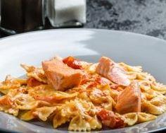 pates au saumon et sauce tomate