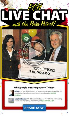 Publishers Clearing House Prize Patrol PRNewsFot Emily gee