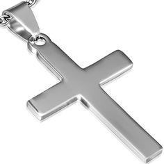 Pendentif Zense pour homme en acier inoxydable brillant et gravable, représentant une croix latine très sobre au design épuré. Ce pendentif religieux peut être porté en toutes circonstances. Matière : acier inoxydable. Hauteur : 4,00 cm. Largeur : 2,40 cm. Poids : 3,50 g. Référence : ZP0175.