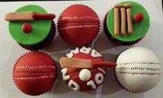 Cricket themed cupcake toppers