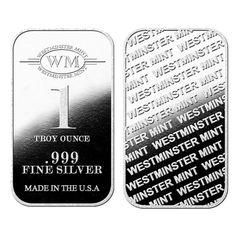 Westminster Mint 1 oz Silver Bars   Silver Bullion