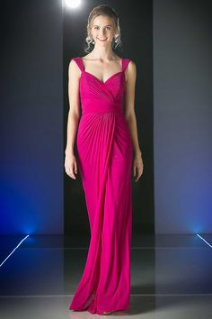 Orchid Bridesmaid Long Evening Gown with Sweetheart Neckline.  https://www.smcfashion.com/wholesale-bridesmaid-dresses/formal-gown-cdc7457