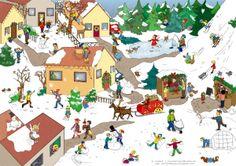 Weihnachtliches wimmelbild Mehr
