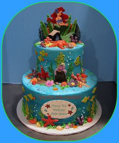 Under the Sea Ariel Birthday Cake