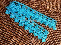 Crochet edging with corner ~~ Crochet Edging Patterns, Crochet Borders, Crochet Squares, Crochet Trim, Crochet Motif, Crochet Designs, Crochet Doilies, Crochet Flowers, Crochet Lace