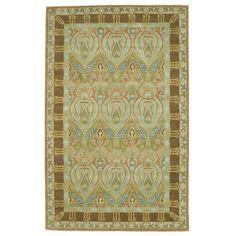 EORC Morgan Green Wool Hand-tufted Rug (7'9 x 9'9)