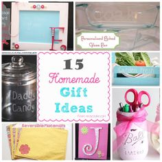 15 Homemade gift ideas. #HomemadeGifts #Gifts #GiftIdeas #RealCoake