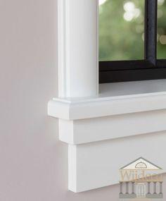 Jaren 30 vensterbank op maat gemaakt - Online te bestellen Wooden Window Design, Sconces, Shed Construction, Home, Wall Lights, Candle Sconces, Wooden Windows, Home Decor, Window Design
