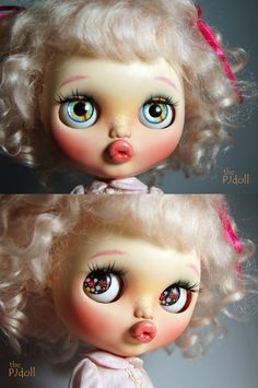 thePJdoll SOLD OUT Pinky Kitty Custom Blythe by ThePJdoll