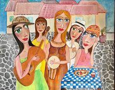 "Saatchi Art Artist Eleni Koritou; Painting, ""Let the music play"" #art"