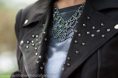 BLACK STUDDED BIKER | ! With Or Without Shoes
