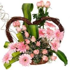 The best way to wish someone is with flowers. Shop2Hyderabad.com Offers you this splendid floral arrangement with roses and gerberas.