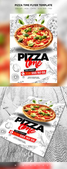 Pizza Time Flyer - Restaurant Flyers