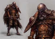 Viking Chieftain Warrior - STIAN DAHLSLETT Concept Artist : Characters : Characters II