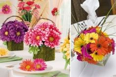 Daisy wedding flower centerpieces Chicago - The Wedding Specialists