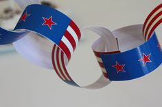 FREE July 4th printable paper chains