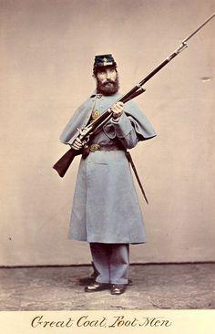 American Civil War Enlisted Uniforms - Great Coat Foot Men