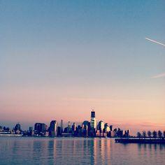 NYC skyline as seen from Hoboken, NJ thedigestonline.com #hoboken #thedigest