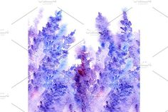 Watercolor lavender floral pattern by Art By Silmairel on @creativemarket