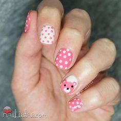 Ideas fáciles de nail art osito y lunares   Cuidar de tu belleza es facilisimo.com