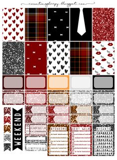 Free Printable Plaid and Tartan Planner Stickers from Counting Sheepy