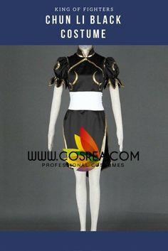 King Of Fighters Chun Li Black Cosplay Costume