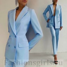 Classy Dress, Classy Outfits, Cool Outfits, Winter Fashion Outfits, Suit Fashion, Mode Mantel, Look Office, Look Blazer, Pantsuits For Women