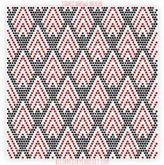 Striped Arrows Pattern - Free Tapestry Crochet Pattern from AllTapestryCrochet.com