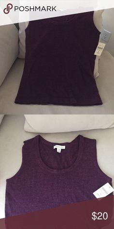Coldwater Creek size medium merino tank. M 10-12 This is new with the tag Coldwater creek plum color exactly as pictured. Price at store. 45 plus tax. Coldwater Creek Tops Tank Tops