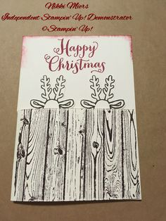 Stampin' Up! With Nikki Miers....Hardwood stamp....Cookie Cutter Christmas