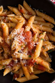 Now that it's getting chilly out, we really have only one goal after surviving a long day at work: get home, throw on sweatpants, plop on the couch, and eat a big bowl of pasta. Okay, maybe that's a few goals, but you get it. Just because you're making a quick pasta for dinner, though, doesn't mean that it can't be delicious. All you need to do is start with the best ingredients, and for that, we look to @Tuttorosso Tomatoes. #ad