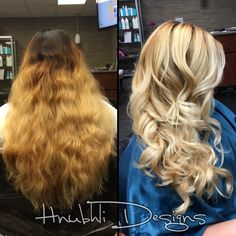 """INSTAGRAM @hnubhlidesigns   WHAT A SUCCESS!! Third bleaching process and we are finally over the """"orange stage"""" Luz is planning on going lighter  #blonding #balayage #blondie #mkeSTYLIST #milwaukeeSTYLIST #summerHAIR #olaplex #hnubhlidesigns  @guy_tang @modernsalon"""