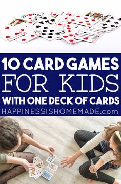 Group Card Games, Card Games For One, Family Card Games, Group Games For Kids, Fun Card Games, Playing Card Games, Games For Toddlers, Activities For Kids, Classic Card Games