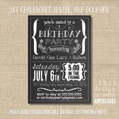 Chalkboard BBQ Birthday Invitation Instantly by SunshineParties ...