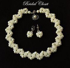 Orecchini di perle sposa sposa Orecchini perla orecchini di Parelsnoer  Bruiloft 128d1c055830f
