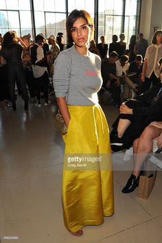 Princess Deena Aljuhani Abdulaziz attends the Zero + Maria Cornejo Spring 2016 fashion show during New York Fashion Week at Shop Studios on September 14, 2015 in New York City.